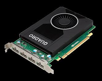 NVIDIA Quadro M2000 4 GB GDDR5 Grafikkarte - 4x DisplayPort, 1x DisplayPort to SL-DVI Adapter